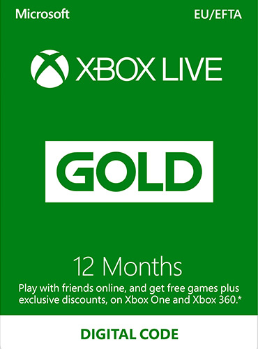 Xbox LIVE Prepaid 12 Month Gold Membership Card
